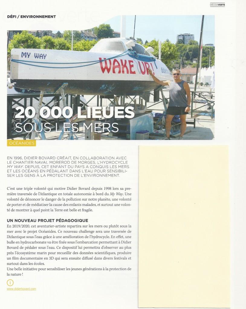 """Article dans """"Thonon magazine"""" août 2018."""