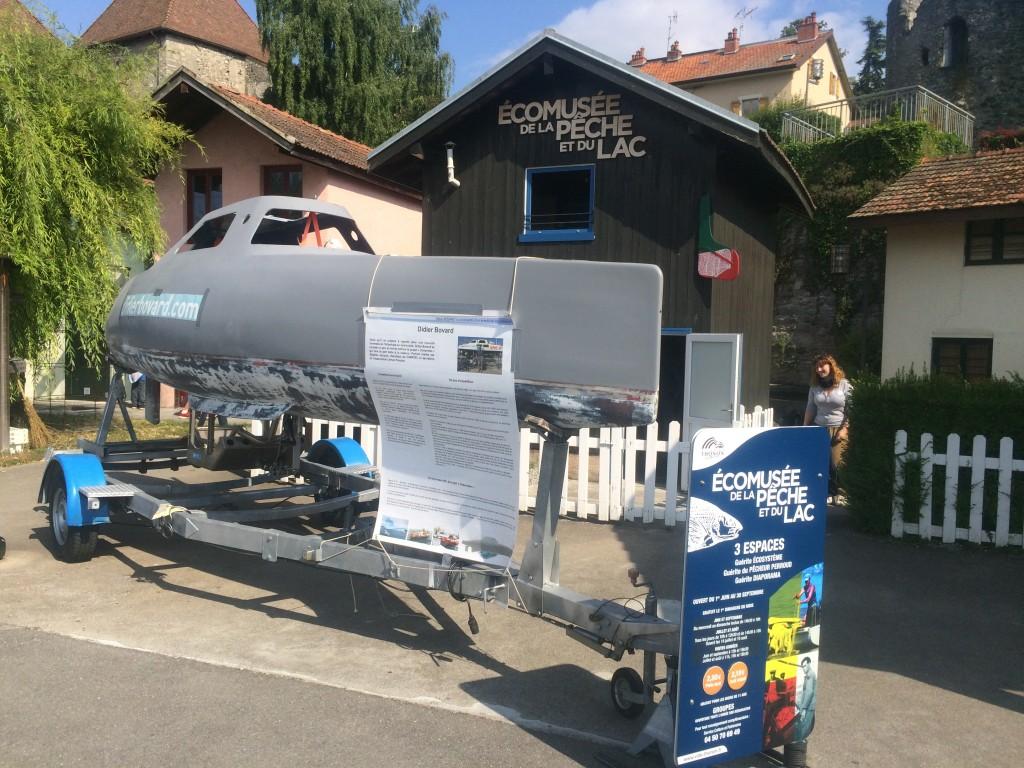 My Way et le projet Océanides présentés à l'éco-musée de la pêche de Thonon-les-Bains toute la semaine.