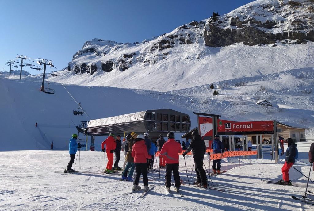Saison d'hiver 2019/20 au télésiège du Fornet sur les hauteurs d'Avoriaz.