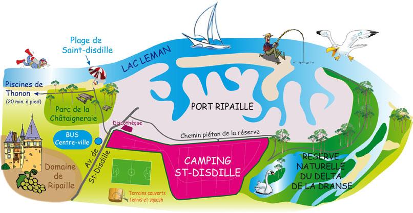 Un grand merci au camping de st Disdille à Thonon-les-Bains pour avoir accueilli My Way avant sa nouvelle tentative de mise à l'eau.