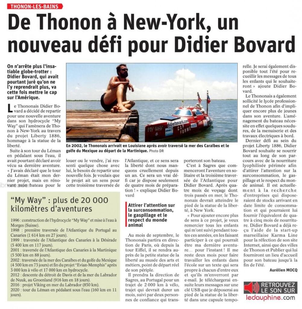 Article d'Aurélien Mocq du Dauphiné libéré.