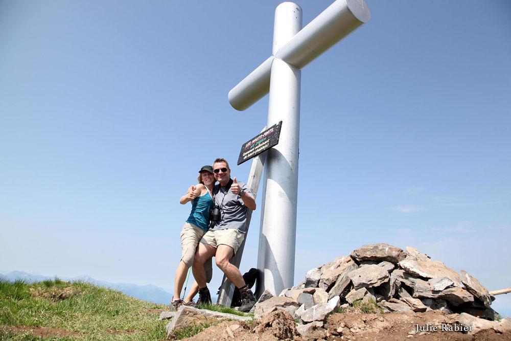 Avec Julie au sommet des Hauts Forts 2466 m.