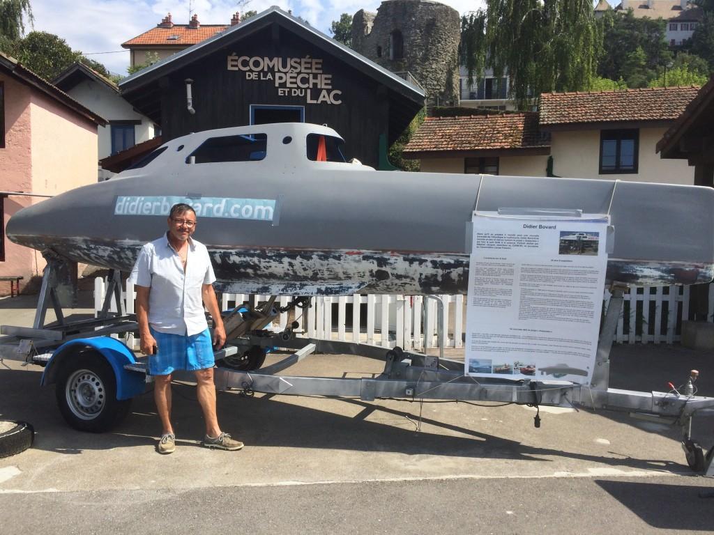 Belle surprise avec la visite de Daniel Oberson venu en voilier de Suisse (St Prex). Daniel est le concepteur de la première heure de la partie cycliste de My Way, ses conseils sont précieux pour ce nouveau projet.