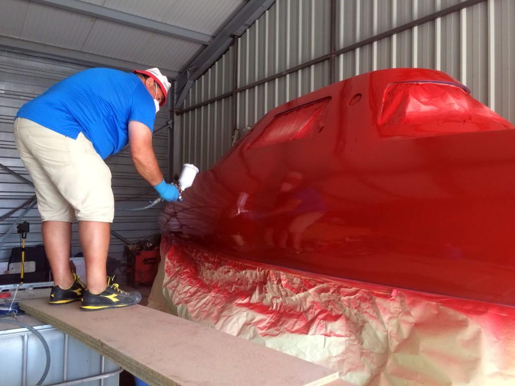 """""""Baby"""" de Boat Services (https://www.leman-boat-services.com/) revet la robe de My Way, rouge comme lors de sa construction en 1996. Retour au source  pour cette nouvelle et passionnante aventure à la Jules Verne."""
