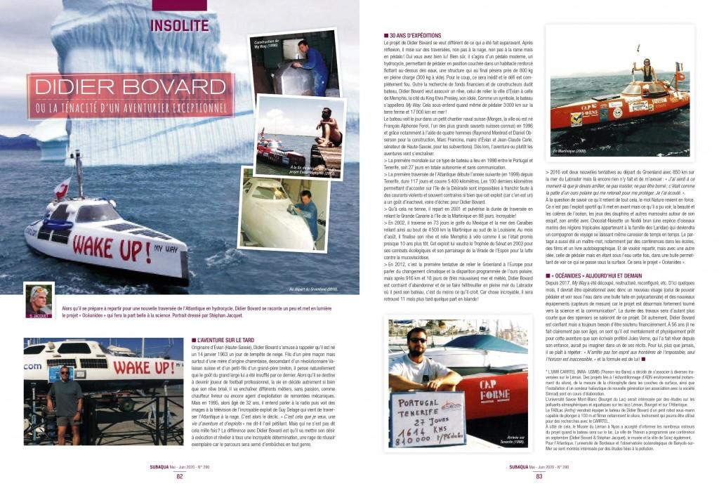 Très bel article écrit par Stephan Jacquet directeur de recherche à l'Inra de Thonon-les-Bains, dans le magazine Subaqua.